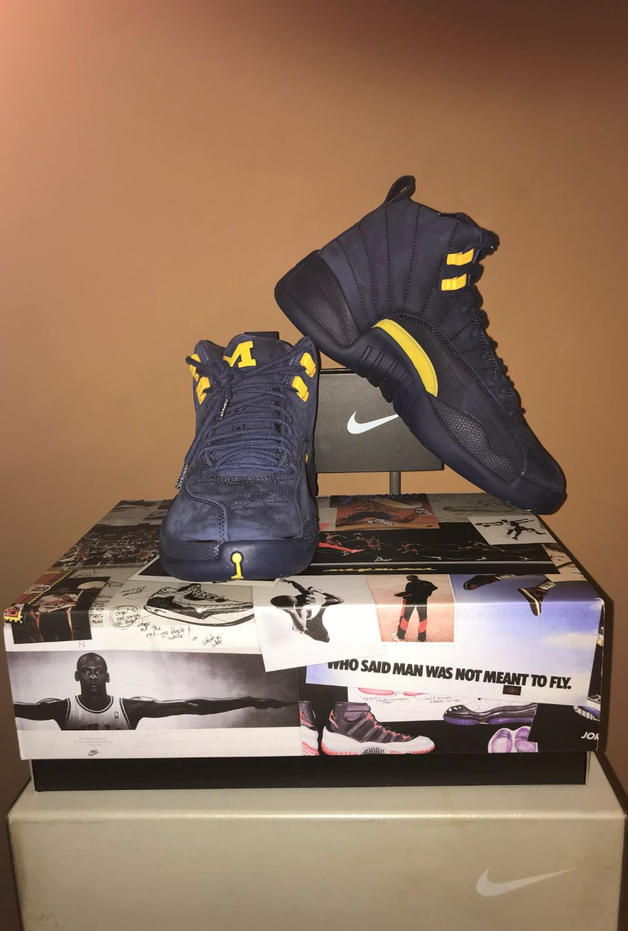 jordan 12 retro michigan 5
